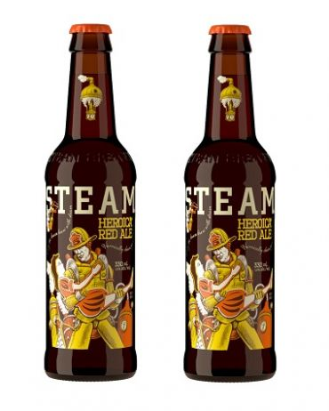 Steamworks Heroica Red Ale 33P