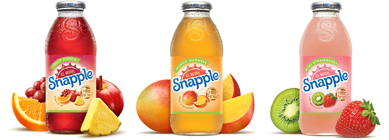 Jus de fruits SNAPPLE (USA)